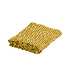 GOFRA Plaid jaune Larg. 125 x Long. 150 cm
