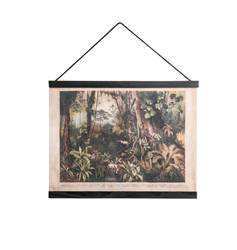 JUNGLE Decoración de pared negro, verde A 30 x An. 40 cm