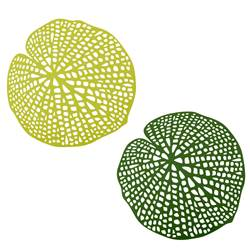 WATER LILY Set de table vert Larg. 38 x Long. 38 cm