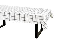 CHECKERS Nappe noir, blanc Larg. 140 x Long. 250 cm