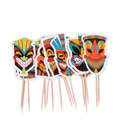 TIKI Piques à cocktail set de 20 multicolore Larg. 3 x Long. 10 cm