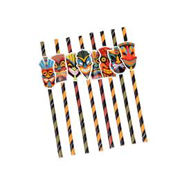 TIKI Cannucce di carta set di 8 multicolore W 3 x L 19,5 cm