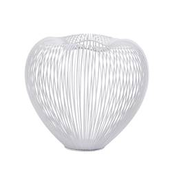 WHITE Pote decorativo branco H 24 cm; Ø 28 cm