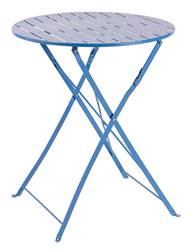 ELITE Table pliante bleu H 71 cm; Ø 60 cm