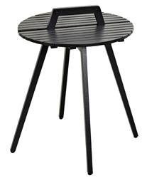 LEVI Table lounge noir H 50 cm; Ø 49 cm