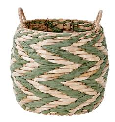 INDIAN GREEN Cesta verde, natural A 19 cm; Ø 23 cm