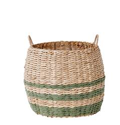INDIAN GREEN Panier vert, naturel H 29 cm; Ø 36 cm