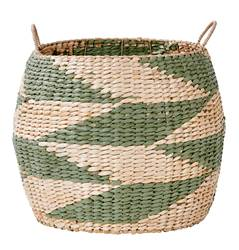 INDIAN GREEN Cesta verde, natural A 39 cm; Ø 46 cm