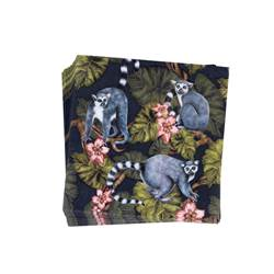 MADAGASKAR Set de 20 serviettes diverses couleurs Larg. 33 x Long. 33 cm