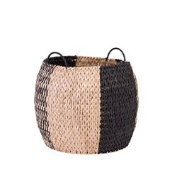 INDIAN SPICE Panier noir, naturel H 38 cm; Ø 46 cm