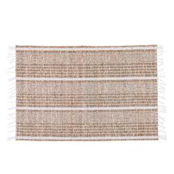 BEACH WH Individual branco, natural H 33 x W 48 cm