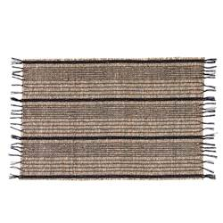 BEACH BL Mantel individual negro, natural A 33 x An. 48 cm