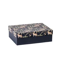 JUNGLE Jungle boîte multicolore H 7 x Larg. 23 x P 17 cm