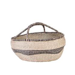 NAKIA Cesto decorativo natural H 26 cm; Ø 60 cm