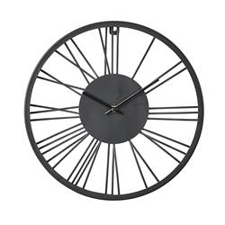 WHEEL Reloj de pared negro Ø 38 cm