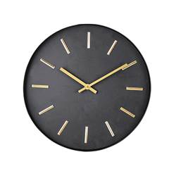 BLACK Reloj de pared negro P 3,6 cm; Ø 30 cm