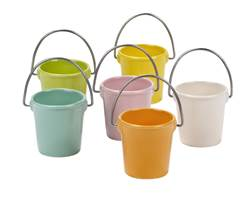 BUCKET Coquetier blanc, orange, jaune, vert, aqua, rose