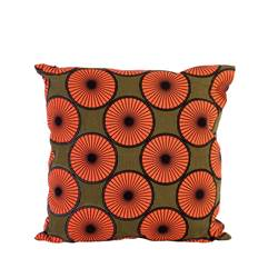 AFRI Coussin orange Larg. 45 x Long. 45 cm