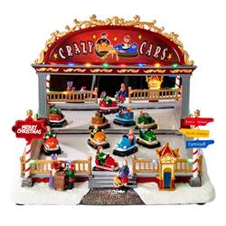 CRAZY CARS Décorations de Noël multicolore H 24,5 x Larg. 35 x P 30 cm