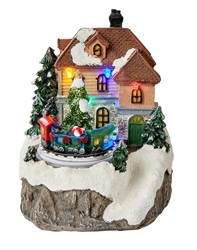 LITTLE HOUSE Décorations de Noël multicolore H 14,5 x Larg. 12 x P 11 cm