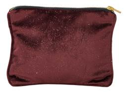 BURGUNDY Trousse rosso scuro W 17 x L 21 cm