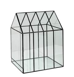 GREENHOUSE Serre transparent H 38 x Larg. 29,5 x P 25,5 cm
