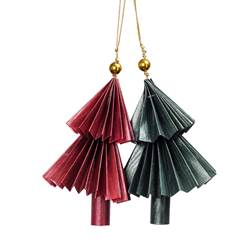 DANGLING Decorazione set di 2 multicolore Ø 8 cm