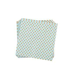 TREVI MINT Set de 20 serviettes menthe Larg. 33 x Long. 33 cm