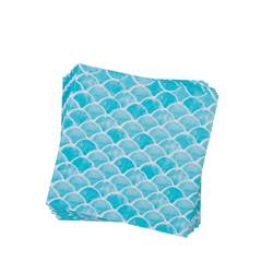 LONDE Set de 20 serviettes bleu Larg. 33 x Long. 33 cm