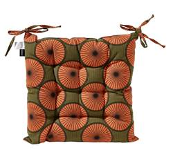 AFRI Coussin orange Larg. 40 x Long. 40 cm