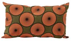 AFRI Coussin orange Larg. 30 x Long. 50 cm