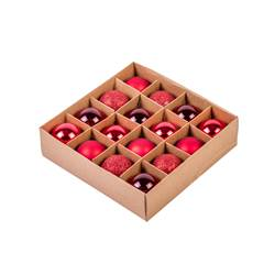 RED Boule de Noël set de 16 rouge Ø 4 cm
