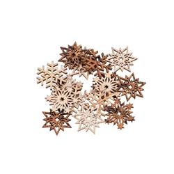 SNOWFLAKES Décoration set de 16 naturel Larg. 0.2 cm; Ø 3.3 cm
