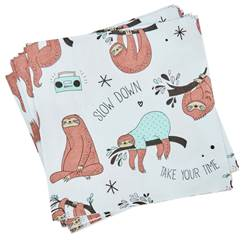 LOUIS Set de 20 serviettes diverses couleurs Larg. 33 x Long. 33 cm