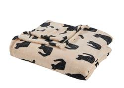 CATS Plaid beige Larg. 130 x Long. 160 cm