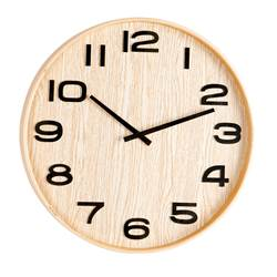 PLYWOOD Reloj de pared natural P 5 cm; Ø 41 cm