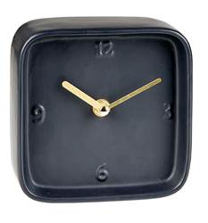 BLOCK Horloge de table noir H 13 x Larg. 13.5 x P 6.2 cm
