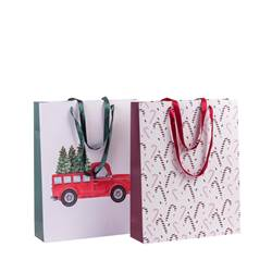 XMAS Tragetasche 2 Muster Multicolor H 40 x B 50 x T 12 cm