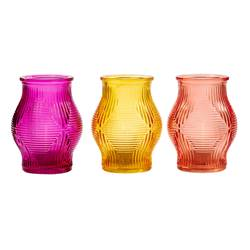 DELIGHT Partylight 3 couleurs orange, jaune, rose H 12 cm; Ø 9 cm