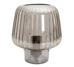 EVIE Lampe de table gris smoke H 21 cm; Ø 18 cm