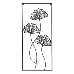GINGKO Decoración de pared negro A 66.5 x An. 30 cm