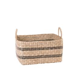 BILLY RAY Cesto nero, naturale H 29 x W 37 x D 27 cm