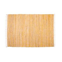 FISK Tapis jaune, naturel Larg. 160 x Long. 230 cm