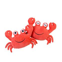 OH CRAB! Peluche rouge H 14 x Larg. 20 cm
