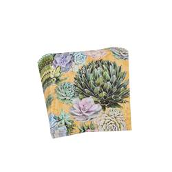 SUCCULENTS Set de 20 serviettes multicolore Larg. 33 x Long. 33 cm