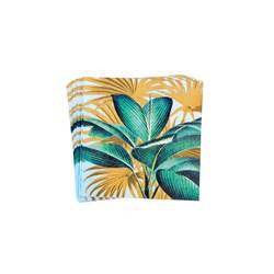 TROPICAL LEAVES Set de 20 serviettes vert Larg. 33 x Long. 33 cm