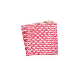 ACHETTI ROSA Set de 20 serviettes rouge Larg. 33 x Long. 33 cm