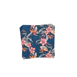 TROPICAL FLOWERS Set van 20 servetten multicolor B 33 x L 33 cm