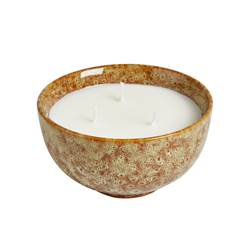 BOWL Bougie en pot blanc H 6,7 cm; Ø 12 cm