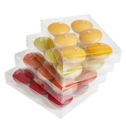 FLOAT CRUISE Bougies flottantes set de 6 4 couleurs rouge, jaune, vert, fuchsia H 2,5 cm; Ø 4,3 cm
